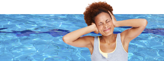 Woman irritated by swimmer's ear