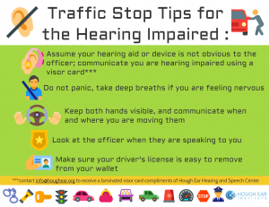 Driving with Hearing Loss, traffic stop tips for the hearing impaired