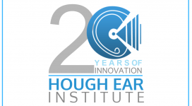 20 years of Innovation at Hough Ear Institute Logo