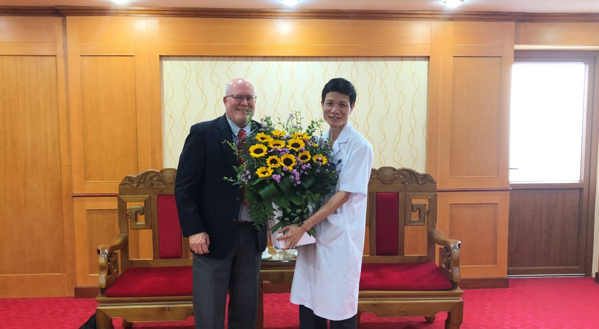 A generous welcome from the doctors in Hanoi.